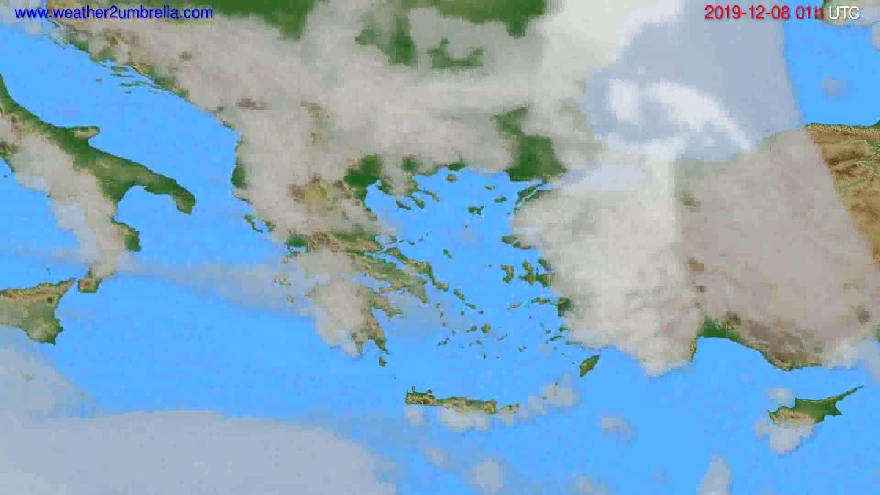 Cloud forecast Greece // modelrun: 12h UTC 2019-12-06
