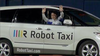 Robot Taxi announces plans for experiments using driverless cars on public roads