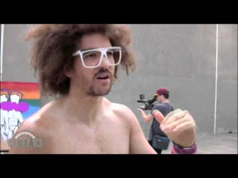 lmfao - LMFAO were spotted filming their new music video in Venice, California. The band was wearing speedos underwear for their new title song.... LMFAO is an Ameri...