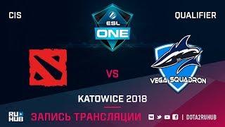Mega-Lada vs Vega Squadron, ESL One Katowice CIS, game 2 [Maelstorm, GodHunt]