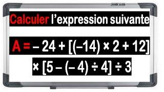 Maths 4ème - Les nombres relatifs en écriture décimale Exercice 7
