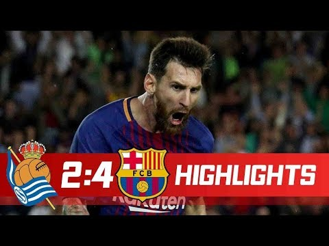 Real Sociedad vs Barcelona 2-4 Goals & Highlights - La Liga 14/01/2018 HD