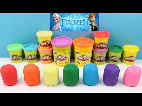 Play Doh Aprender los colores con sorpresas de Frozen | Vídeo educativo para niños | Learn colors