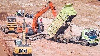 BIG Diger Dozer And Dump Truck Working On Dam ConstructionRelated Videos :Excavator Accident Kobelco SK200 Fuso Self Loader Truck Heavy Recovery   https://www.youtube.com/watch?v=ICOPK--lg-8Excavator Stuck Kobelco SK200 End of Recovery   https://www.youtube.com/watch?v=kY7hj792ft8Stuck Concrete Mixer Truck Heavy Recovery   https://www.youtube.com/watch?v=LK6PLnzFc98Mini Excavator Stuck Heavy Recovery Komatsu PC75UU  https://www.youtube.com/watch?v=3S9_7v59Bw0Excavator Stuck In Mud Kobelco SK200 Heavy Recovery Extended   https://www.youtube.com/watch?v=xy0NJr6WiyMMini Excavator Heavy Recovery Kobelco SK200   https://www.youtube.com/watch?v=OQuK_zIVmOQExcavator And Dozer Working On Road Costruction Site   https://www.youtube.com/watch?v=y_teBRYkIr8Dump Truck Delivering And Unloading Dirt At Road Construction Site   https://www.youtube.com/watch?v=5NC7iOSlMaAAsphalt Eater Machine Working SAKAI ER501F Cold Milling   https://www.youtube.com/watch?v=X4scDsUywJUDump Truck Stuck Recovery By Komatsu D85E-SS Dozer   https://www.youtube.com/watch?v=uPIPBXwf5GgQuester Self Loader Truck Moving Tire Roller   https://www.youtube.com/watch?v=tP441urn90YLarge Excavator Working On Road Construction   https://www.youtube.com/watch?v=giFm4XtCRVwSelf Loader Truck Unloading Komatsu D85E-SS Bulldozer Working   https://www.youtube.com/watch?v=wfHW7zWqSAkEpic Dump Truck Stuck Off Road Recovery Part 2   https://www.youtube.com/watch?v=RbXXcZx1khEEpic Dump Truck Stuck Off Road Recovery Part 1   https://www.youtube.com/watch?v=VUbycrsciNwEpic Dump Truck Off Road   https://www.youtube.com/watch?v=YmGKGqh5mS0Large Excavator Work CAT 336D LME Swingging Dirt   https://www.youtube.com/watch?v=CW_UgsKmPzsBulldozer CAT D6R Hard Working On Road Construction   https://www.youtube.com/watch?v=EVs8ocV2-AEFB : http://www.facebook.com/MrZygy3Twitter : http://twitter.com/Zygy3Web : http://zygy3.comInstagram : https://www.instagram.com/mrzygy3  All About Heavy Equipment Like Digger Excavator Truck and Constr