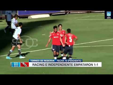 Racing 1-1 Independiente. Torneo de Reserva