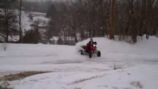 9. Kawasaki KFX 450R In The SNOW! [HD]