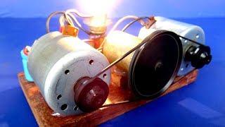 Easy DIY Free energy light bulb Self Running machine generator From DC motors
