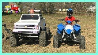 3. RACE Mini Monster Truck and Polaris 4 Wheeler Outlaw 110