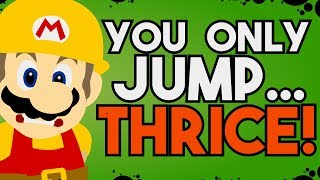 """How to Build an """"Only Three Jumps"""" Level in Super Mario Maker 2!"""