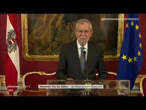 Stellungnahme von Alexander Van der Bellen am 18.05.19