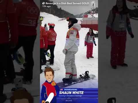 SHAUN WHITE GOLD MEDAL SNAPCHAT STORY 2018