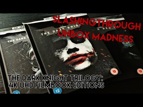 The Dark Knight Trilogy 4K UHD Filmbook editions - Unbox Madness Slashingthrough