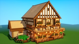 Minecraft Tutorial: How to build a BIG survival house ( Medieval Mansion ) 2018 #2