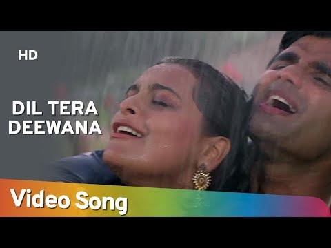 Video Dil Tera Deewana - Suneil Shetty - Shilpa Shirodkar - Raghuveer - Hindi Song - Rain Dance Song download in MP3, 3GP, MP4, WEBM, AVI, FLV January 2017