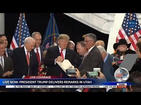 President Trump Speech in Utah to Announce Shrinking of National Monuments  12-4-17