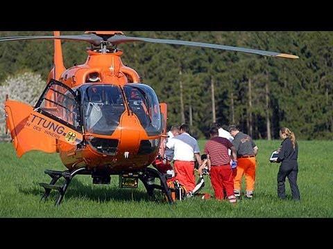 B 251: Motorradfahrer in Klinik geflogen
