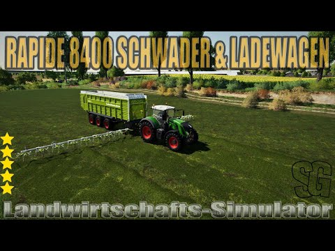 Rapide 8400 Windrower & Loading Wagon v1.0