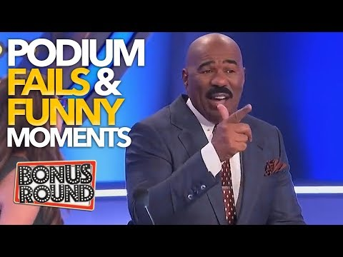 EPIC PODIUM Family Feud Fails & Funny Moments With Steve Harvey!