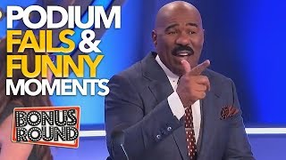 Video EPIC PODIUM Family Feud Fails & Funny Moments With Steve Harvey! MP3, 3GP, MP4, WEBM, AVI, FLV Maret 2019