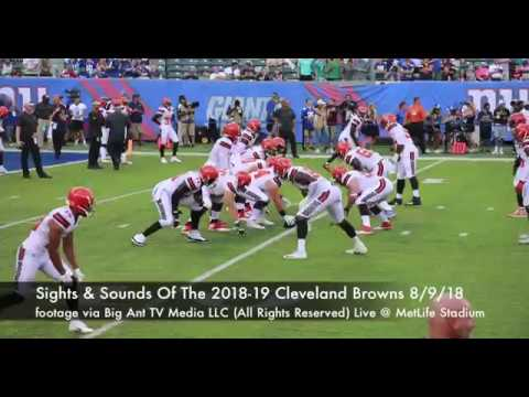 Cleveland Browns 2018-19 Preview Big Ant TV Media LLC (Preseason Preview 2018-19 vs New York Giants)