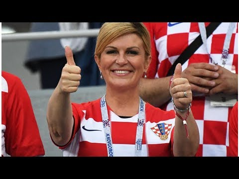 Croatia's president Kolinda Grabar-Kitarović is a World Cup super fan