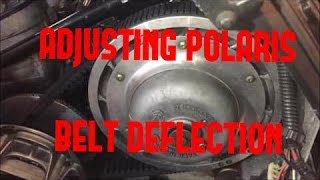 10. Adjusting the Belt Deflection on your Polaris Snowmobile