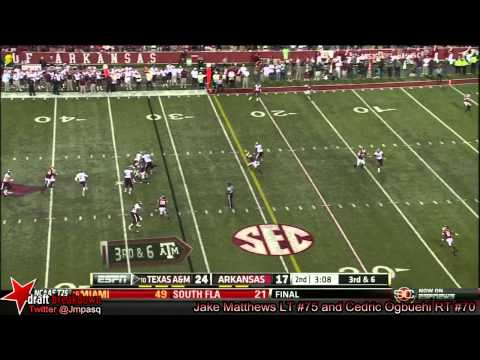 Mike Matthews vs Arkansas 2013 video.