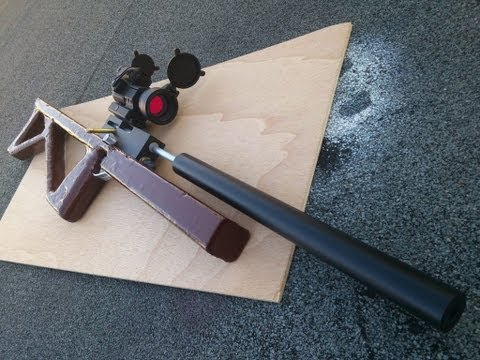 Airgun - An airgun I made, PCP style, even through the chamber is external. Can fire 6mm BBs, .40 cal blowgun darts and .177 cal pellets. My FB page: http://www.faceb...