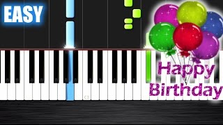 Happy Birthday - EASY Piano Tutorial Ноты и М�Д� (MIDI) можем выслать Вам (Sheet music for piano)