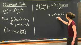 Quotient Rule | MIT 18.01SC Single Variable Calculus, Fall 2010