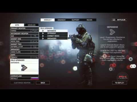 Battlefield 4 - эпичные подробности меню сетевой игры (мультиплеер) )
