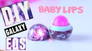 DIY GALAXY EOS LIP BALM with BABY LIPS - PINK PUNCH | Tutorial | Wendiness Lu - YouTube