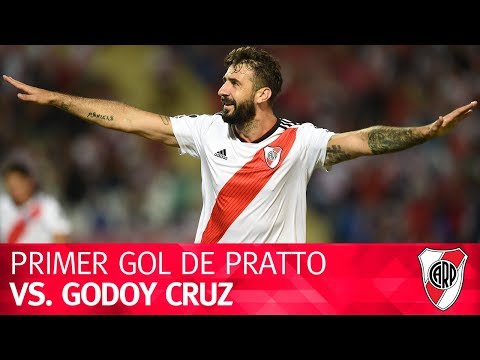 Primer gol de Lucas Pratto vs. Godoy Cruz