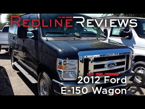 2012 Ford E-150 Wagon Review, Walkaround, Start Up, Test Drive