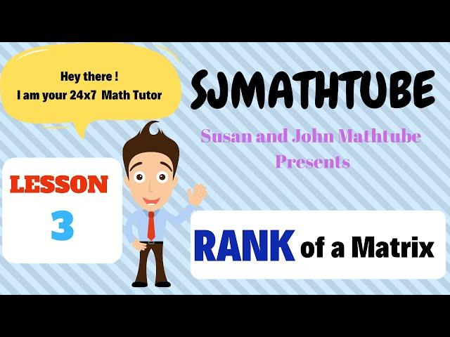 Matrix - 3 - Rank ( Normal Form - Past Paper Questions )