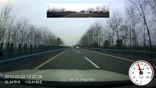 2015 drive-lapse from Beijing to Yuxi, Yunnan, China, 12x speed, 1080p, 60fps