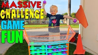 """We decided to make the ultimate backyard obstacle course challenge.  We played this game on teams, which team did you want to win??!!  Thanks for watching!  Don't forget to give us a THUMBS UP! Please subscribe to our channel & the kids' channels!http://bit.ly/FFPSubscribehttp://bit.ly/AlwaysAlyssaSubscribehttp://bit.ly/SubDudeItsDavidhttp://bit.ly/SubTwinTimehttp://bit.ly/SubMichaelsMPWant to send fan mail?  You can find our address in our """"about"""" section here on YouTube.Find pictures, updates, and more about Family Fun Pack: Facebook: http://bit.ly/FamilyFunFBTwitter: http://bit.ly/FamilyFunTwitterInstagram: http://bit.ly/FamilyFunIGMatt's Instagram: http://bit.ly/DaddyFunPackIGMatt's Twitter: http://bit.ly/DaddyFunPackAlyssa's Instagram: http://bit.ly/2dLKBE6David's Instagram: http://bit.ly/2dsNQAmZac's Instagram: http://bit.ly/2dL1JocChris' Instagram: http://bit.ly/2dL34vVMichael's Instagram: http://bit.ly/2cTen8zNew videos posted daily! Challenges, Epic Road Trips, Vlogs, Toys,  Clothes, Food, and lots of other fun things!  Family Fun Pack is a family of 6 kids: Alyssa, David, Zac & Chris, all born within 39 months of each other.  After those four, we had our precious son Michael and then our sweet new baby Owen!  Our motto is """"fun with the family, every day""""! We like to do videos with Play Doh, Costumes, Superheros, Hot Wheels, Surprise Eggs, holidays like Easter, Halloween & Christmas, we have fun birthday parties, we love indoor playgrounds and outdoor playgrounds, bounce houses, parks, water parks, Disneyland, Legoland, Legos, water toys, Thomas trains, play houses, forts, mess making, trying new foods, pranks, going crazy down the stairs, going to the beach, swimming, pools, Barbies, languages, sports, soccer, makeup, Alyssa loves Justice, horses, animals, and pretty much everything cool!  Be sure to watch our popular videos, such as 24 hours with 5 kids, kid size cooking & our Costume Runway Show -- we have many of each of these :)"""