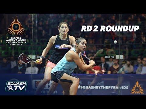 Squash: CIB PSA Women's World Champs 2019/20 - Rd 2 Roundup