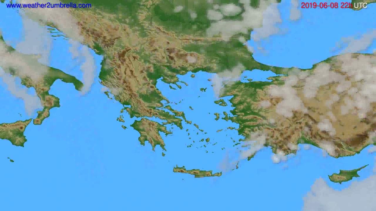 Cloud forecast Greece // modelrun: 00h UTC 2019-06-06