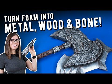 How to turn foam into steel, wood and bone