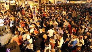 مسيرة جماهيرية تضامناً مع الاسرى المضربين عن الطعام في طولكرم