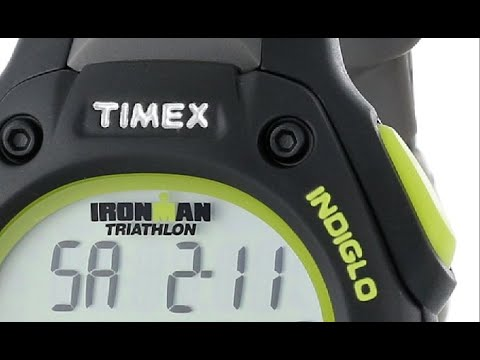 Timex Men's T5K6929J Ironman Traditional 30 Lap Black and Green Resin Strap Watch