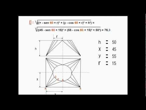 Caldeiraria - Exemplo de como usar um calculadora científica para calcular linhas para traçado de caldeiraria. http://www.caldnazza.com/ Mais sobre transições: http://www....