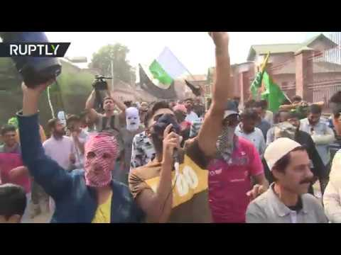 We are suffering!': Hundreds protest in Kashmir