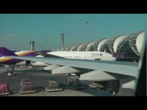 Thai Airways A 340-600 Taxiing At Suvarnabhumi, Bangkok,Thailand