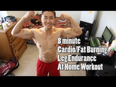 8 Min Fat Burning Home Workout Without Equipment – Burpees, Lunges, Squats