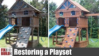 Video How to Restore an Old Wooden Playset | Swing Set Restoration MP3, 3GP, MP4, WEBM, AVI, FLV September 2019