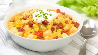 Easy Corn Chowder Recipe | Cook #WithMe At Home by The Domestic Geek