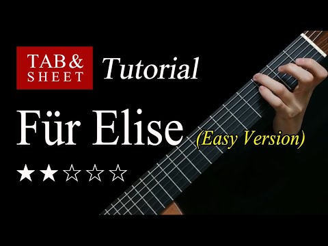 Für Elise (Easy Version) - Guitar Lesson TAB видео