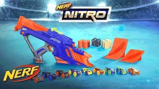 Launch your cars to the sky with the motorized NERF NITRO MOTOFURY RAPID RALLY set. Load the car into the clip, align the...